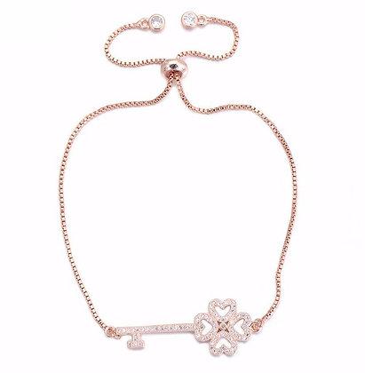 Happiness Key Rose Gold Bracelet