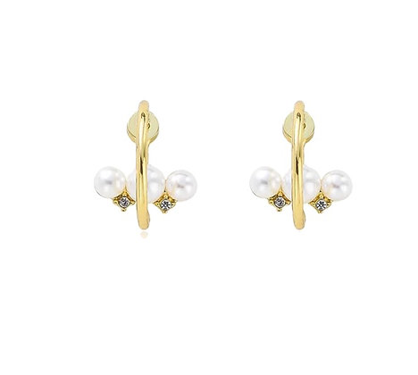 Gold Plated Noa Hoop Earrings