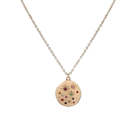 Gold Plated Summer Stars Coin Necklace