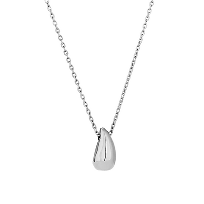 Silver Plated Teardrop Necklace