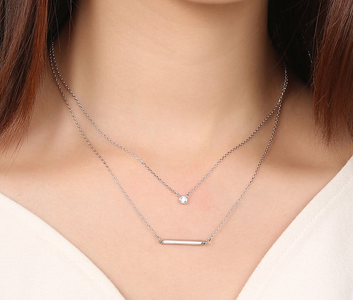 Silver Plated Doha Necklace