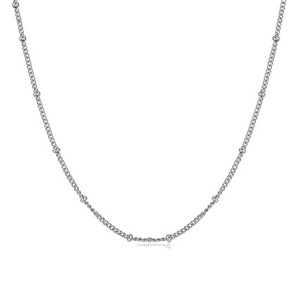 Silver Plated Ball Necklace