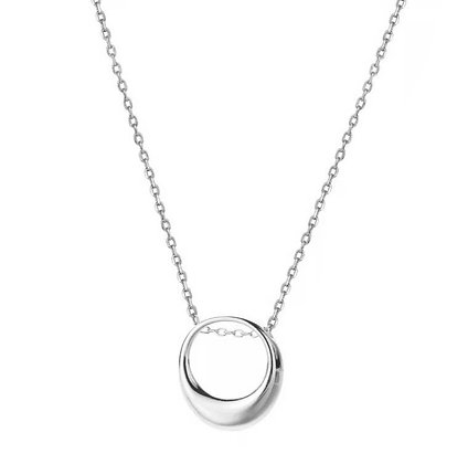 Silver Plated Ring Necklace