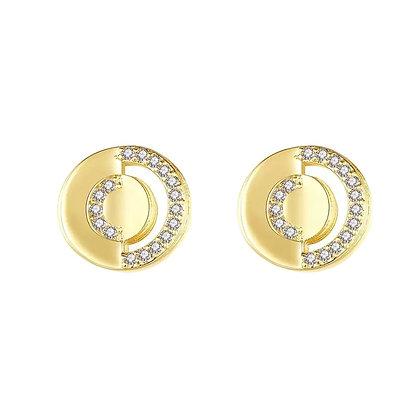 Gold Plated Cardi Earrings