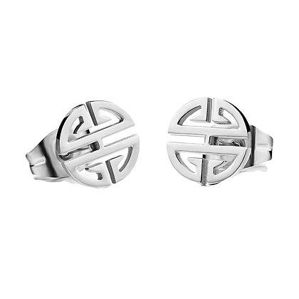 Silver Plated Geometry Earrings