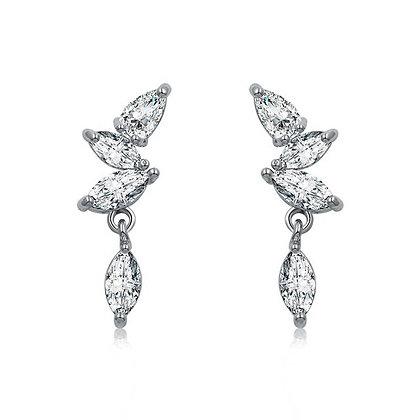 Silver Plated Monaco Drop Earrings