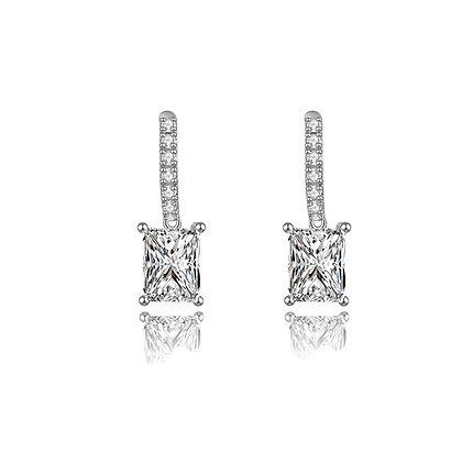 Silver Plated Elizabeth Stud Earrings