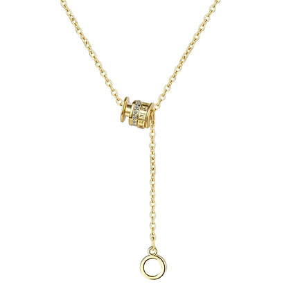 Gold Plated Roman Numbers Necklace
