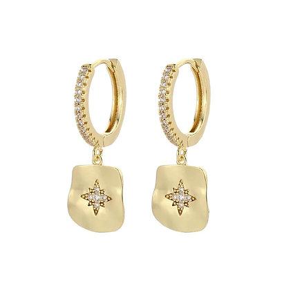 Gold Plated Paloma Hoop Earrings