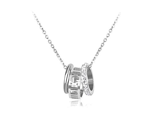 Silver Plated Madonna Necklace