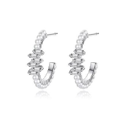 Silver Plated Nicole Earrings