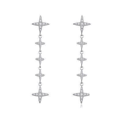 Silver Plated Roda Drop Earrings