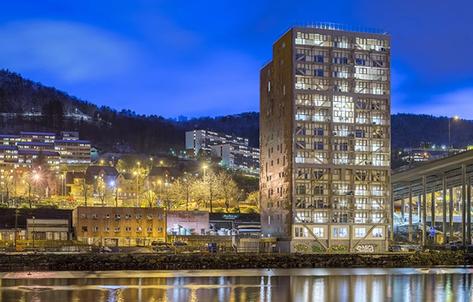 Treet Building, Bergen, Norway; Photo copyright Swedish Wood/David Valldeby