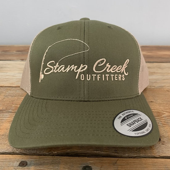 Olive Green-Tan Stamp Creek Outfitters