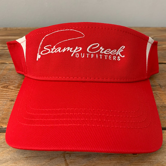 Red-White Visor Stamp Creek Outfitters
