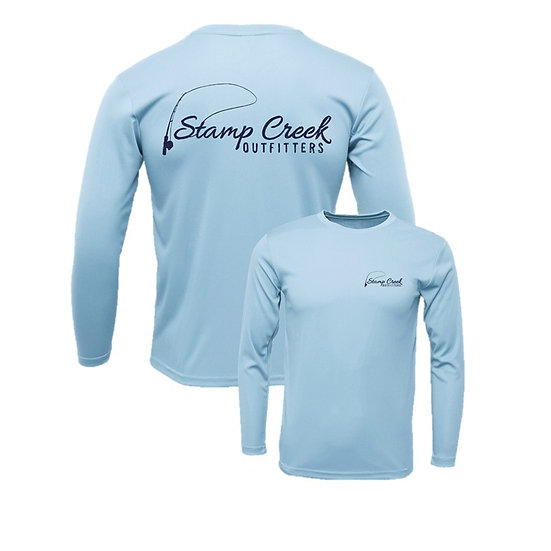 Ice Blue Stamp Creek Outfitters Long Sleeve