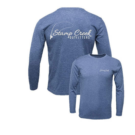 Heather Royal Stamp Creek Outfitters Long Sleeve