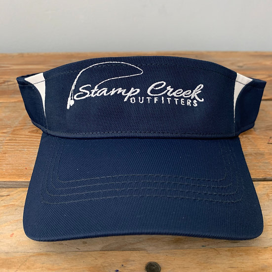 Navy-White Visor Stamp Creek Outfitters