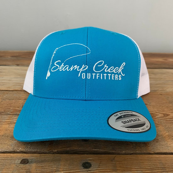 Ocean Blue-White Stamp Creek Outfitters