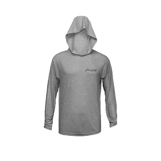 Heather Grey Stamp Creek Outfitters Long Sleeve with Hood
