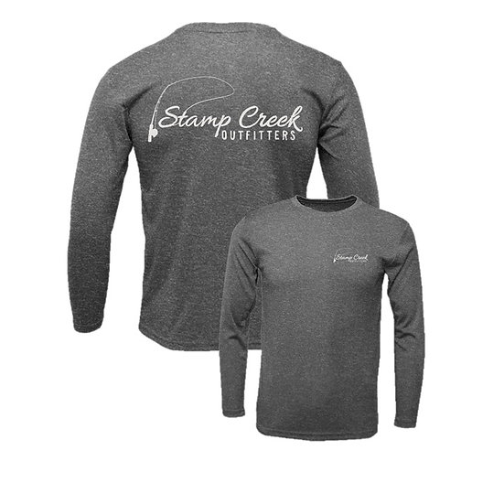 Heather Black Stamp Creek Outfitters Long Sleeve