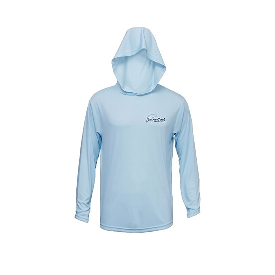 Ice Blue Stamp Creek Outfitters Long Sleeve with Hood