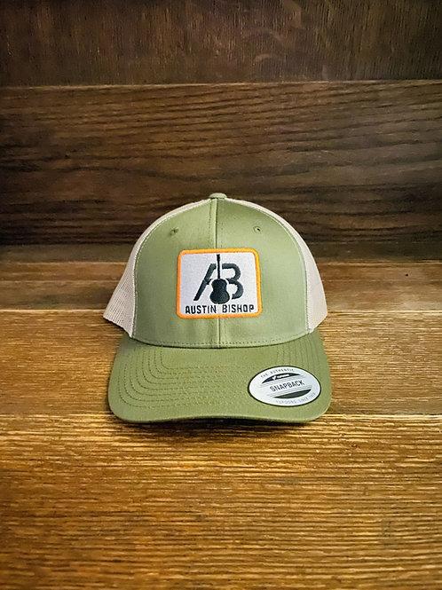 AB Olive-Orange Yupoong Trucker Hat