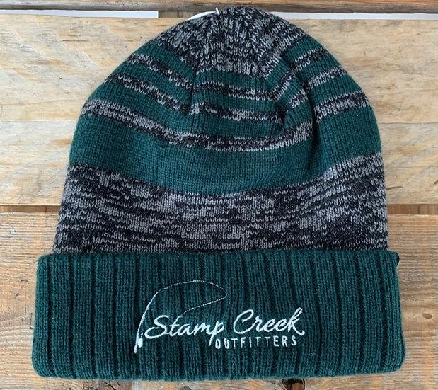 Green Pattern Toboggan Stamp Creek Outfitters
