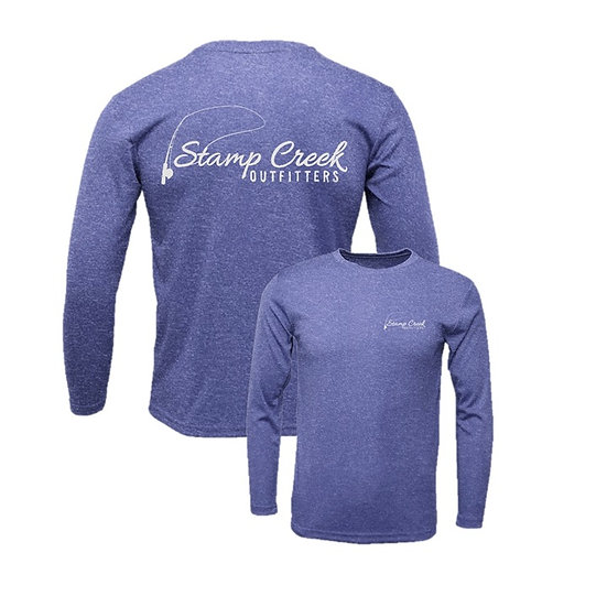 Heather Purple Stamp Creek Outfitters Long Sleeve