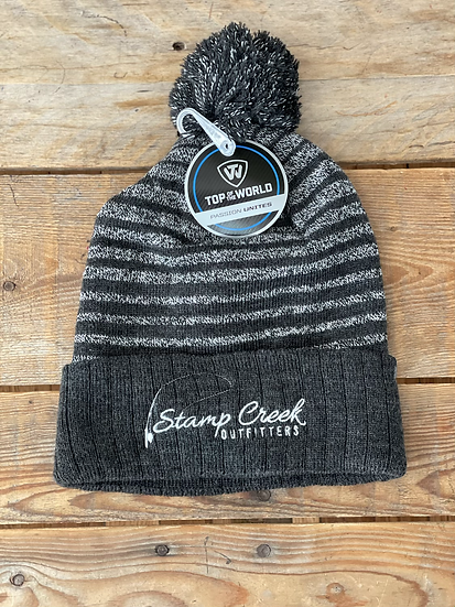 Charcoal Gray Pattern Toboggan Stamp Creek Outfitters