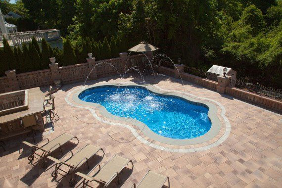 Light Red paver with white accent on The Eden Pool