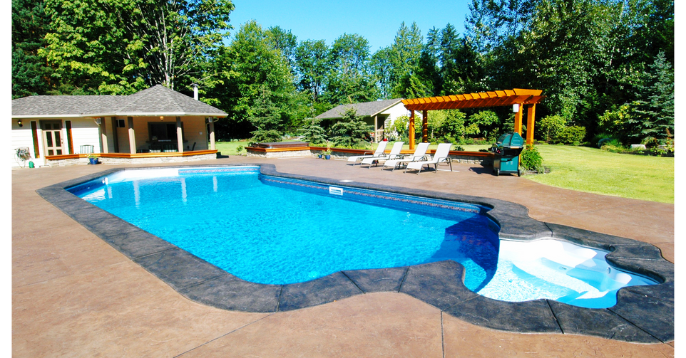 Colored Stamped Conrete Pool