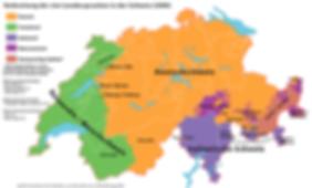 Schweizer Dialekte, Schweizerdeutsch, Sprachkarte, Schweizer Sprachen