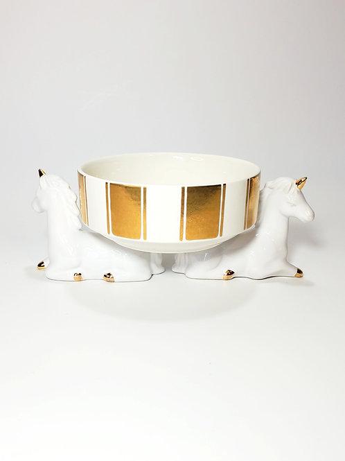 Gold Unicorn Elevated Pet Food Dish