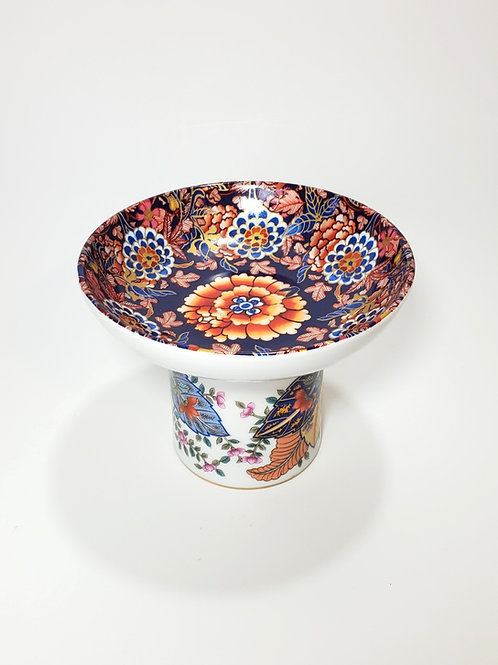 Imperial Floral Elevated Pet Food Dish