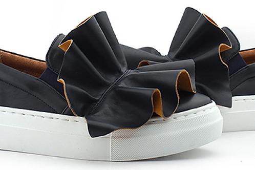Ruffles Navy Slip-On