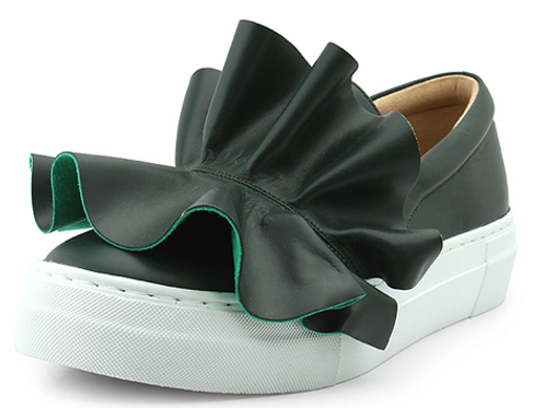 Ruffles Green Slip-On