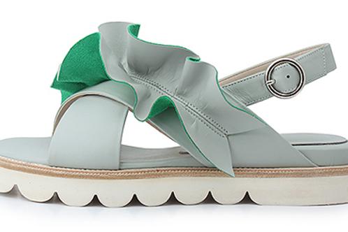 Ruffles Mint Sandals