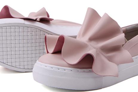 Ruffles Pink Slip-On