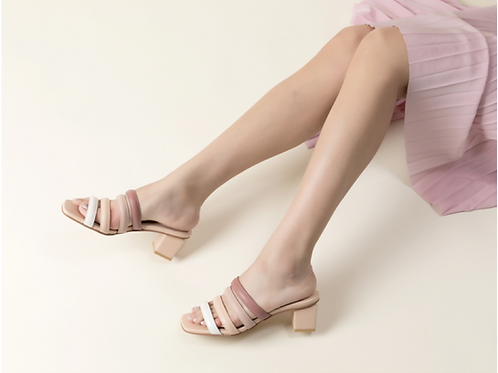 Nude Stripes Mules
