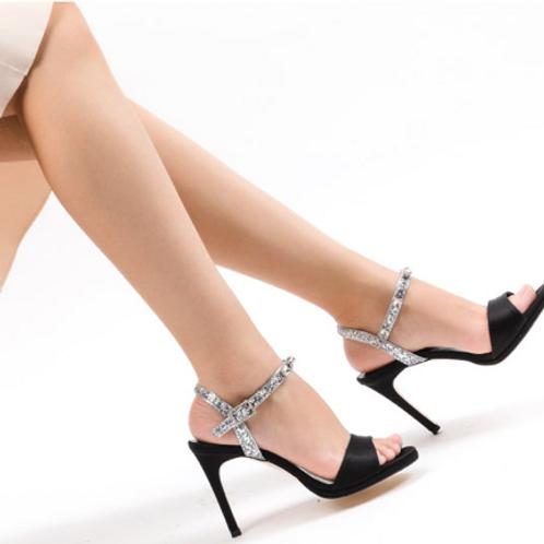 Silver Gems Heels