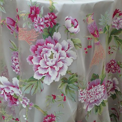Floral Organza Overlay