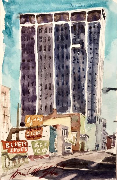 Lunchtime Watercolor - Downtown Childhoo