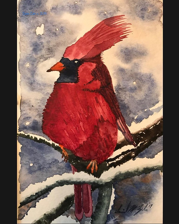 Lunchtime Watercolor - Cardinal Rules 11