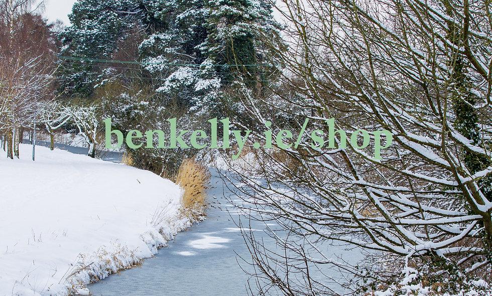 Snow Canal Walkway Naas