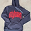 """Thumbnail: """"Only Human """" Grey & Red Hoodie"""