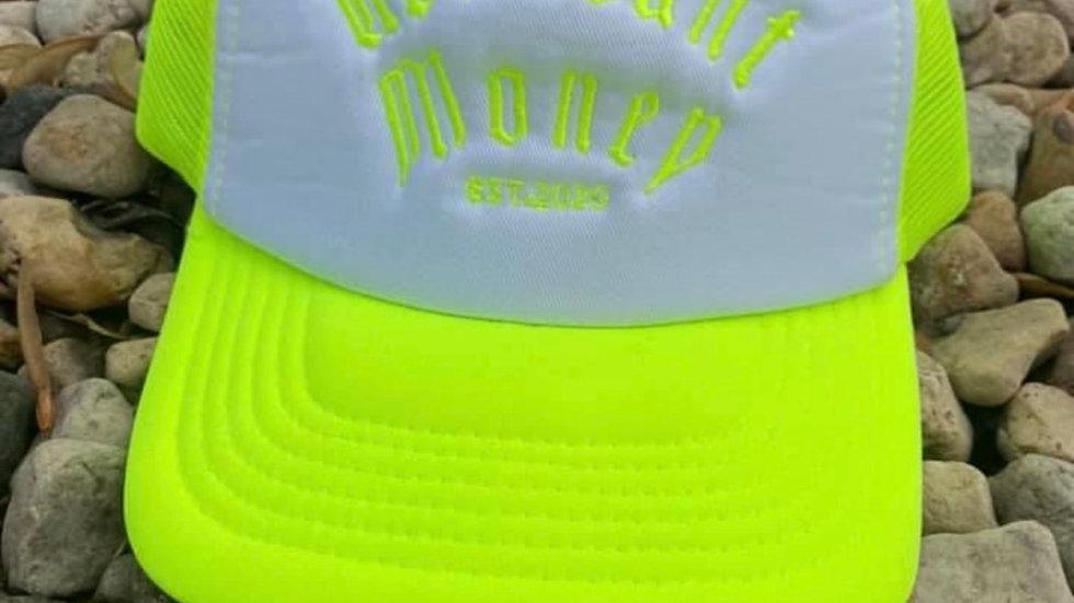 Neon Green & White  - Trucker Hat
