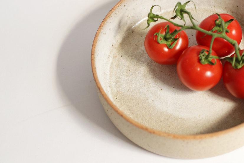 Matte white glaze bowl