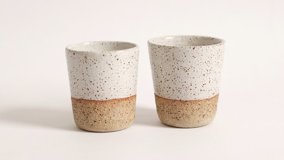 Speckled tumblers
