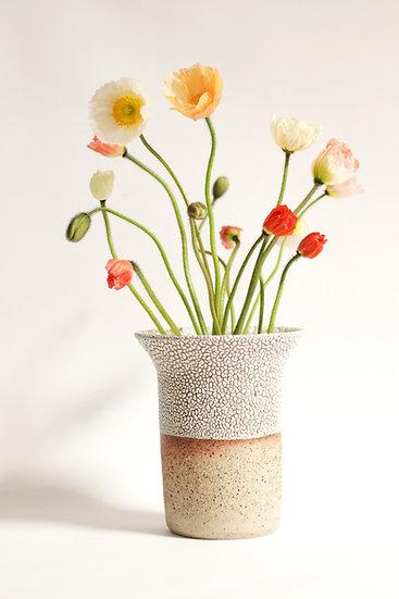 Crawl glaze vase